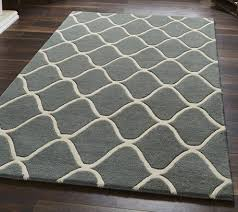 Modern Rugs Ltd Elements Grey El 65 Tufted Modern Rug