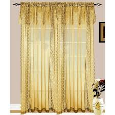 Lace Curtains And Valances Set Of 2 Jessie Lace And Sheer Curtain Drapery Panel With Attached