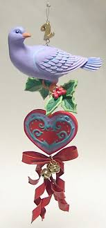 twelve days of ornament two turtle doves boxed by