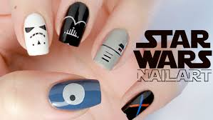minimalist star wars nail art youtube