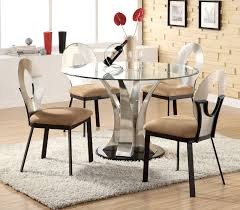 Astounding Small Round Glass Dining Table And Chairs  For Used - Round glass kitchen table sets