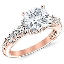Circle Diamond Wedding Ring by 2 05 Carat Designer Four Prong Round Diamond Engagement Ring With