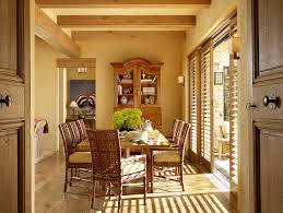 patio door blinds dining room mediterranean with armoire