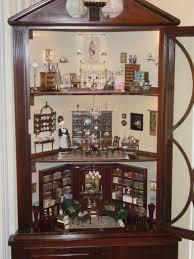 corner hutch made into dollhouse miniature masterpieces