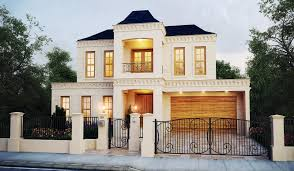 Two Story House Design by Artistic Mont Albert Two Story House Design With High Fences Part