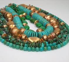 real turquoise necklace images Turquoise necklace genuine turquoise multistrand multi strand jpg