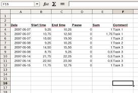 spread sheet inf 1060 spreadsheet 1 information processing