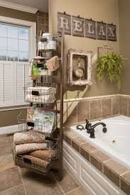 traditional interior design with metal shelves and brown ceramic