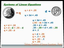 algebra solving systems of equations part 1 8th grade math