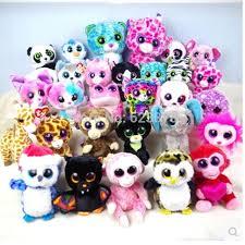 2017 ty cute mini beanie boos colorful big eyes animal plush doll