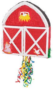 themed pinata barn pull string pinata birthdays themed and animal