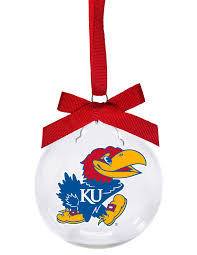 kansas ku jayhawk ornament