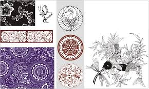 japanese ornaments and designs vector images on cd or by