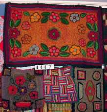 hooked rugs rugs folk