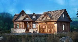 Rustic Lake Empty Nester House Plans