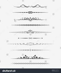 calligraphic page dividers retro decoration book stock vector