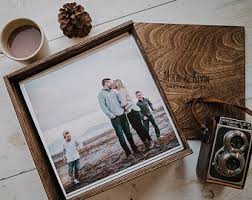 10x10 photo album wood album box etsy