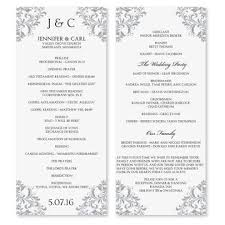 wedding programs templates wedding program templates free madinbelgrade