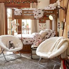 Papasan Chair Cover Ivory Sherpa Faux Fur Hang A Round Chair Pbteen
