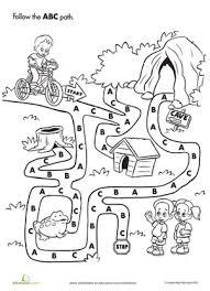 abc maze worksheet education com
