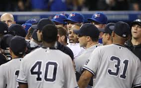 Red Sox Yankees Benches Clear Yankees Rally Late Hang On For 7 5 Win Over Blue Jays After