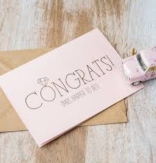 congrats engagement card congratulations on your engagement card by emilie