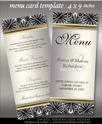 menu design for dinner party organic tribal silver black white wedding menu wedding menu