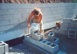 dry stack block surface bonded concrete block walls used for htms