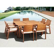 Atlantic Patio Furniture Atlantic Contemporary Lifestyle Nelson 9 Piece Square Eucalyptus