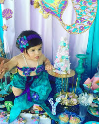 mermaid party cupcakes sweet table design kids birthday cake