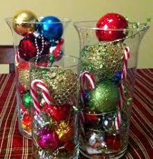 Christmas Hurricane Centerpiece - dollar store glass hurricanes diy christmas decorations