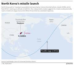 Alaska Flight Map by North Korea Tests Icbm That Can Hit Alaska Business Insider