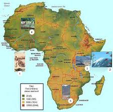 africa map landforms module three activity one exploring africa
