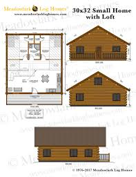 30x32 log home w loft meadowlark log homes