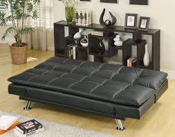 Leather Click Clack Sofa Furniture Appealing Contemporary Futon For Any Apartment Or