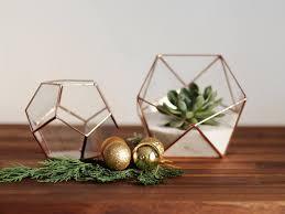 geometric glass terrarium container fall decor christmas