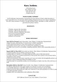 Case Worker Resume Sample by Professional Arbitration Representative Templates To Showcase Your