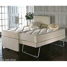 Pullout Bed 3ft Single Pull Out Trundle Divan Guest Bed With Quilted
