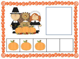 five frame number match 0 5 math center thanksgiving themes by