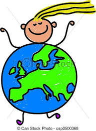 stock illustration of european kid happy little caucasian