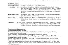 It Security Resume Examples by Sample Resume For Information Security Administrator