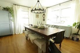 my white u0026 soft blue rustic modern dining room