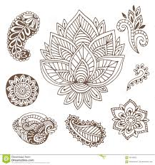 indian ornaments collection vector illustration with