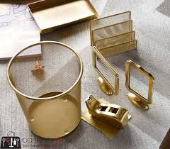 gold desk accessories on a budget 100 things 2 do