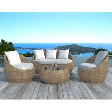 canape jardin resine delorm salon de jardin résine 2 fauteuils 1 canapé 1 table