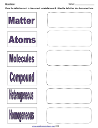 mixtures solutions and matter 7th 9th grade worksheet lesson