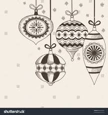 christmas ornaments doodles stock vector 89344096 shutterstock