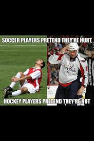 Soccer Hockey Meme - nhlfa on twitter rt if you think hockey players are tougher than