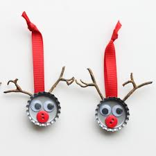 bottle cap reindeer craft the country chic cottage