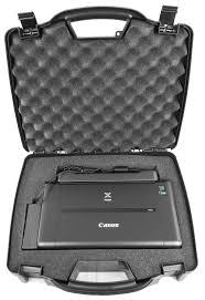 travel printer images Casematix carrying travel mobile printer hard case w dense foam jpeg